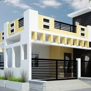 Single Floor House Front Elevation Photos