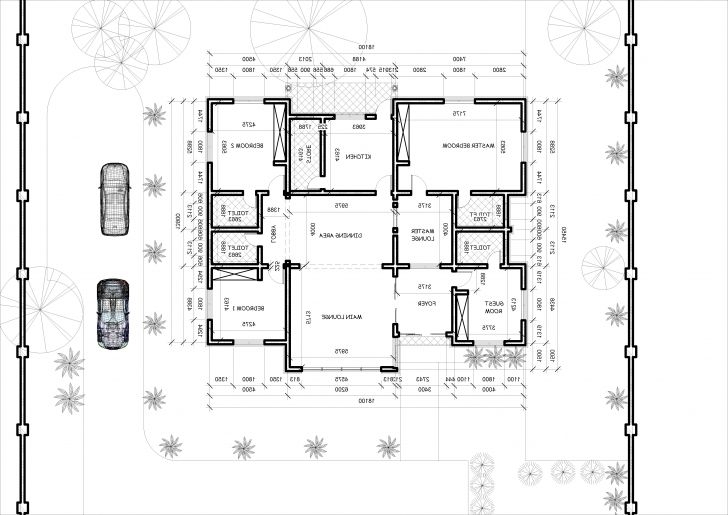 Interesting 4-Bedroom-Bungalow-Architectural-Design-Architectural-Designs-For-4-Bedroom- Bungalow-Home-Combo-Simple-Bed-Room-Decoration Building Plan For Four Bedroom Bungalow Pic