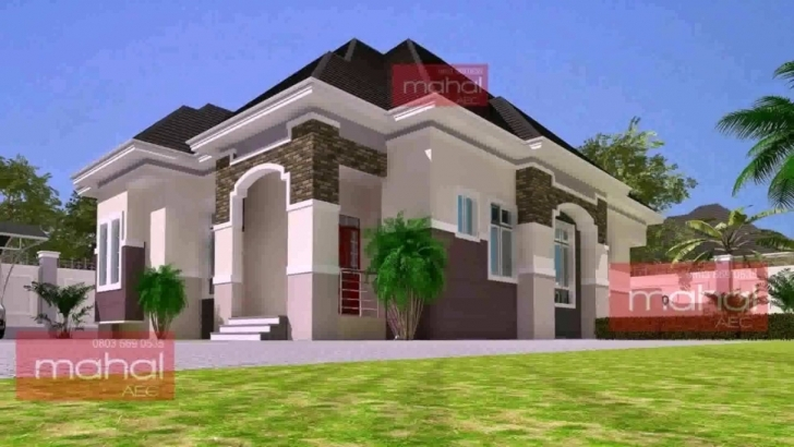 Interesting 4 Bedroom Bungalow House Design In Nigeria - Youtube Free 4 Bedroom Bungalow House Plans In Nigeria Image