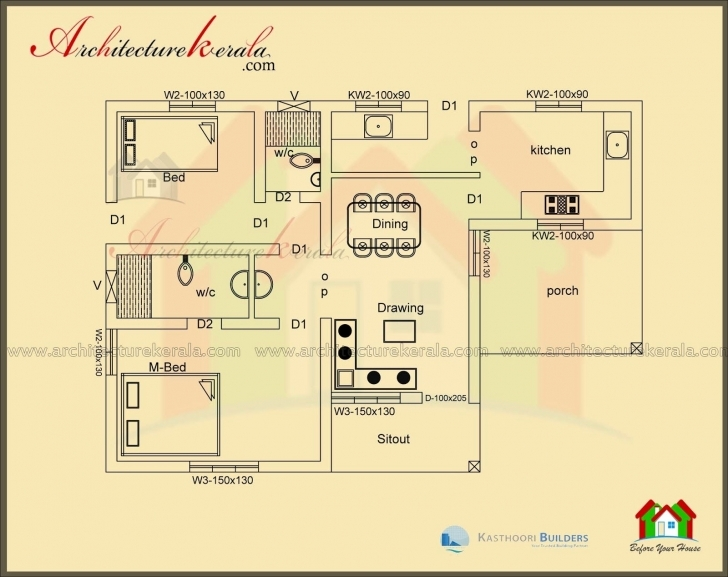 Interesting 60 New Collection 3 Bedroom House Plans In Kerala   Hous Plans 1000 Sq Ft House Plans 3 Bedroom In Kerala Picture