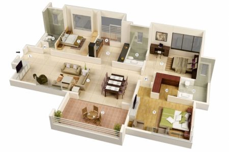 Simple House Plan With 3 Bedrooms
