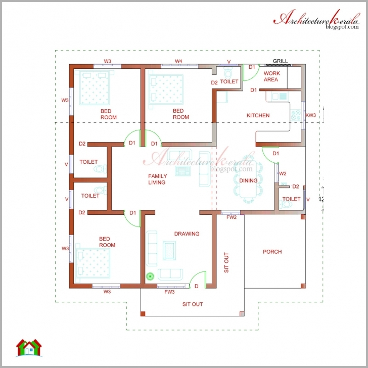 Interesting Architecture Kerala Beautiful Elevation Its - House Plans | #88273 Kerala House Plan Picture