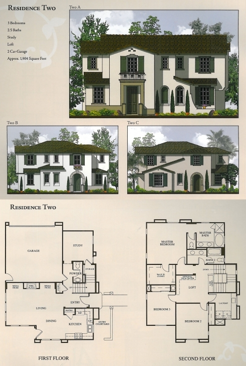 Interesting Floor Plans & Elevations - The Foothills At Carlsbad Floor Plan With Elevation Pic