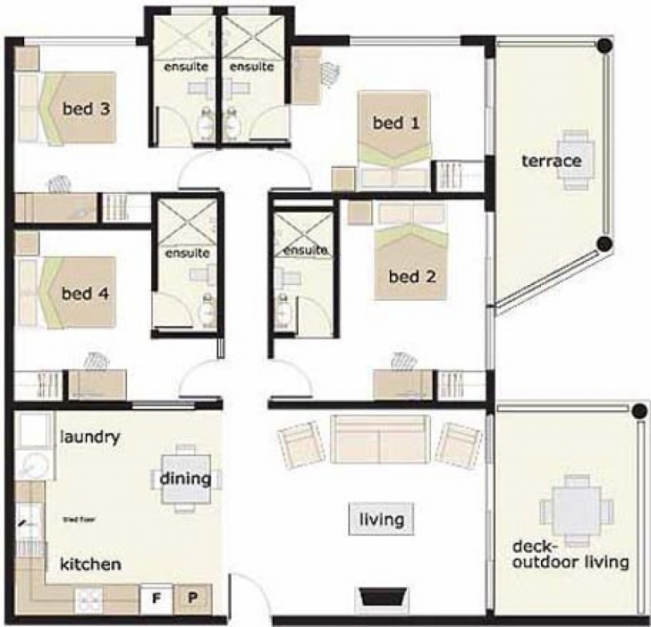 Interesting House Plan 4 Bedroom House Designs 4 Bedroom Bungalow House Plans In 4 Bedroom House Floor Plans In Nigeria Photo