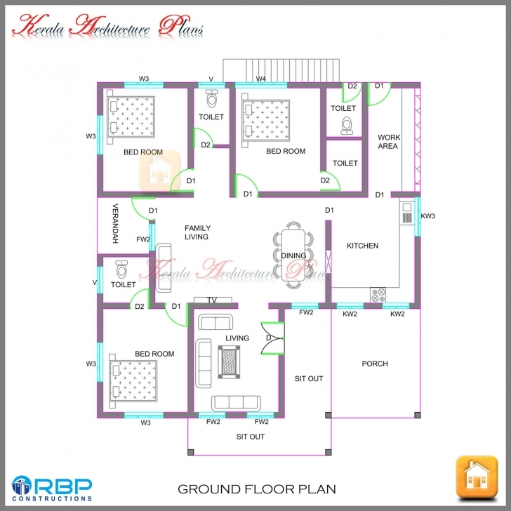 Interesting Kerala Style Single Storied House Plan And Its Elevation Kerala House Plan Image