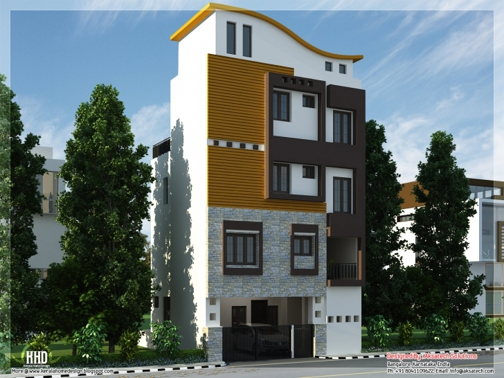 Interesting Mix Collection Home Elevations Interiors Kerala - Building Plans 15*30 Home Front Design Image