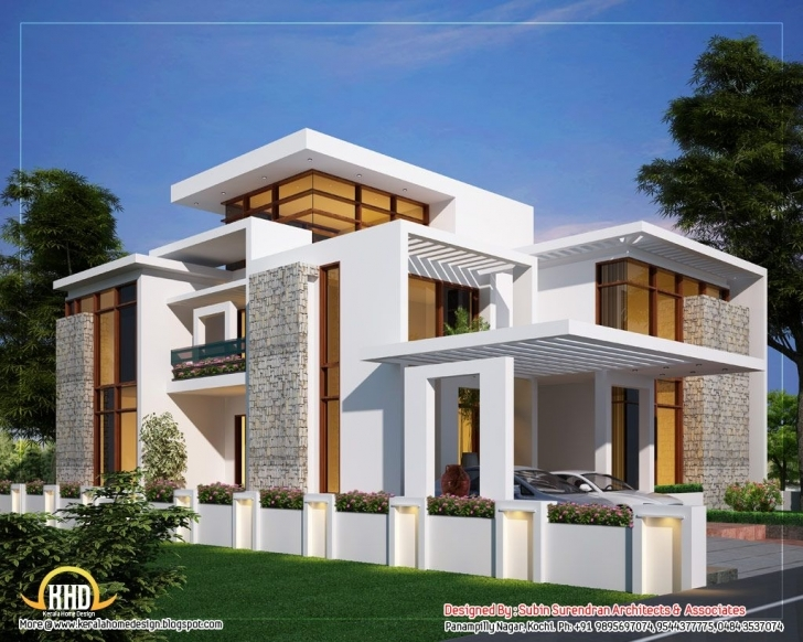 Interesting Modern Architectural House Design | Contemporary Home Designs Floor Designed Home Plans Pic
