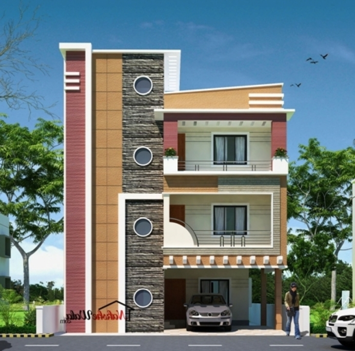 Interesting Modern House Front View Design - Homes Floor Plans Building Front Design Come Photo