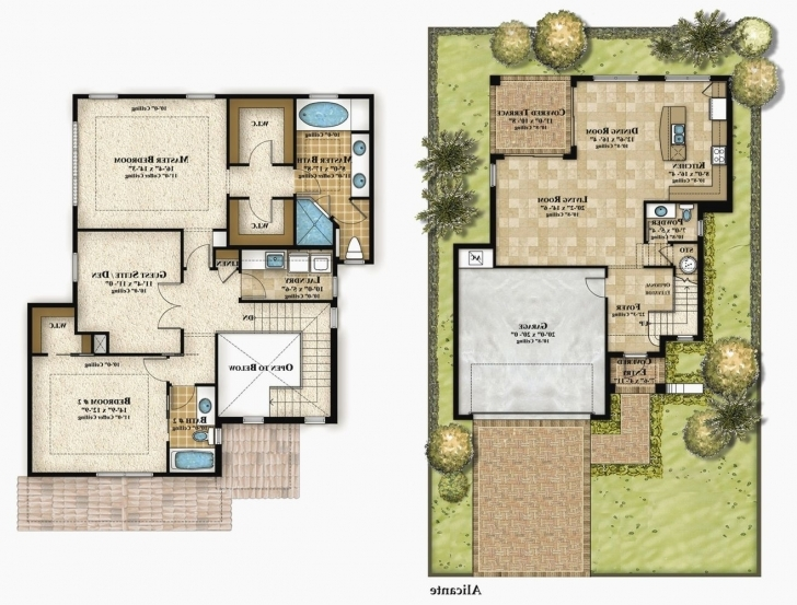 Interesting Modern Two Storey House Plans — Plan Picture Home Designtwo Story Modern Small Double Story House Plans Pic