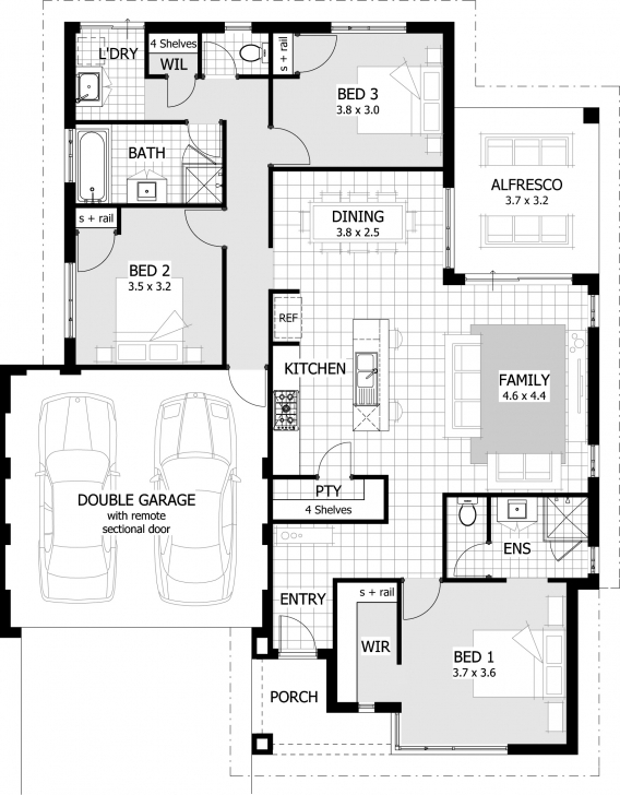 Interesting Simple House Plan With Ideas 3 Bedroom Gallery Bedrooms Design Simple House Plans Gallery Picture