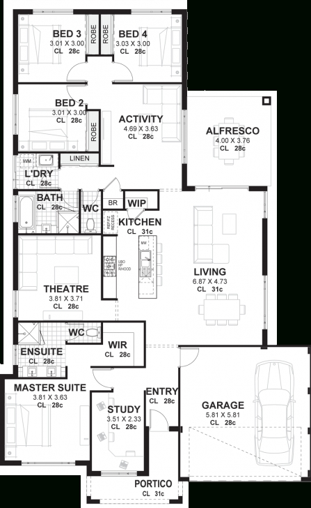 Latest 4 Bedroom House Plans & Home Designs Perth | Vision One Homes 4 Bedroom House Plans Image