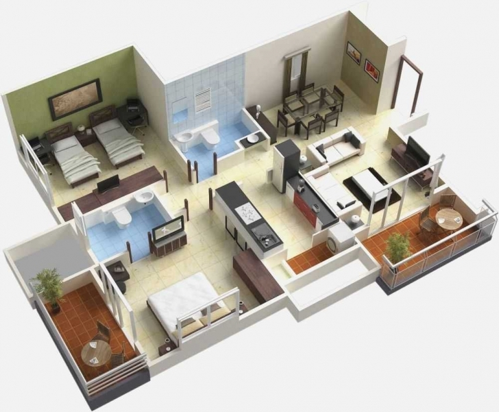 Latest Bedroom House Design Trends Also Fascinating Simple Plan With 4 Simple House Plan With 4 Bedrooms 3d Pic