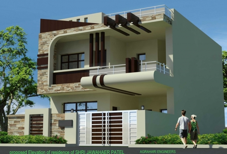 Latest Duplex House Front Elevation Designs View 2018 Including Fascinating Duplex House Front Elevation Designs In India Picture