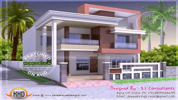 Latest House Front Design Indian Style - Youtube Building Front Design India Pic