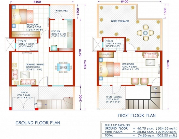 Latest House Plan Fashionable 5 800 Square Feet Duplex House Plans 1200 Sq Indian House Floor Plans For 1200 Sq Ft Photo