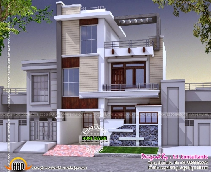 Latest Modern 3 Bedroom House In India - Kerala Home Design And Floor Plans 25 By 50 House Designs Picture
