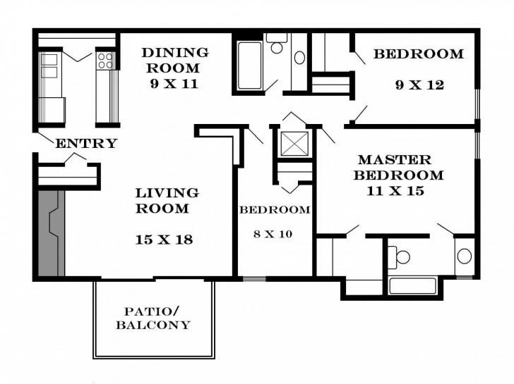 Latest More 5 Spectacular House Plan For Three Bedroom Flat 3 Bedroom Flat Three Bedroom Flat House Plan Photo