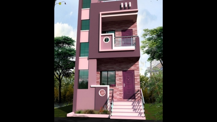 Marvelous 15' Feet Front House Design - Youtube 15 Feet Wide House Front Elevation Image