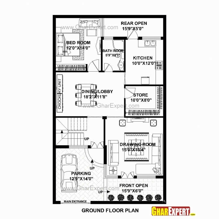 Marvelous 30 X 50 Square Feet House Plan New House Plans Less Than 500 Sq Ft 15 By 50 House Plan Pic