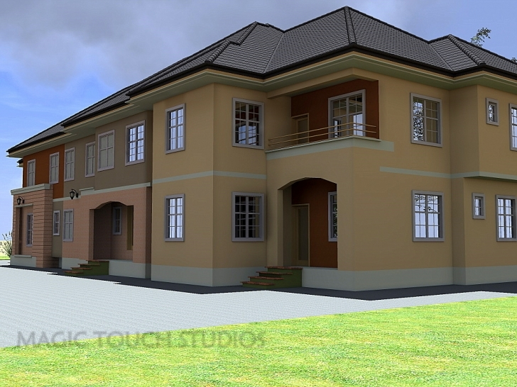Marvelous 4 Bedroom Duplex With Attached Two Bedroom Flat. Four Bedroom Flat Design In Nigeria Pic