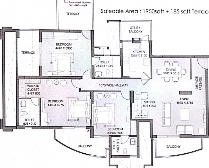 Marvelous Ats Kocoon In Sector 109, Gurgaon - Price, Location Map, Floor Plan 1745 House Plan Image