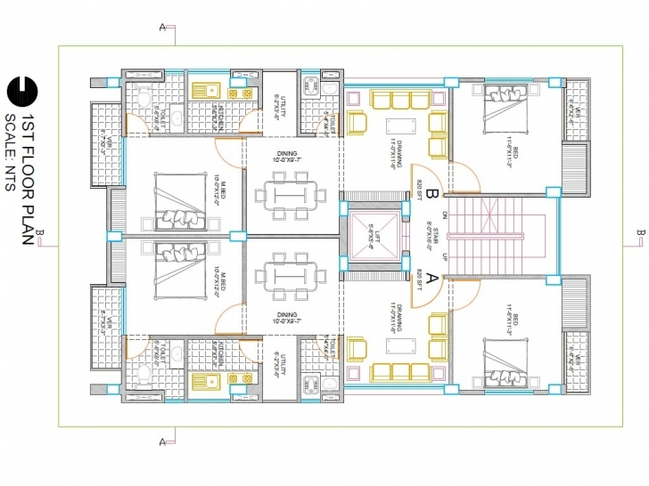 Marvelous Autocad House Drawing At Getdrawings | Free For Personal Use Autocad 2d House Drawings With Dimensions Picture