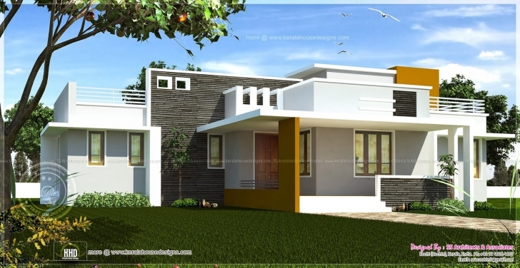 Marvelous Single Floor Contemporary House Design Indian Plans - Building Plans Single Storey Indian House Designs Pic