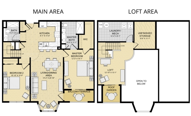 Most Inspiring 2 Bedroom House Plans With Loft Winsome Ideas Bedrooms - Tiny House 2 Bedroom House Plans With Loft Pic