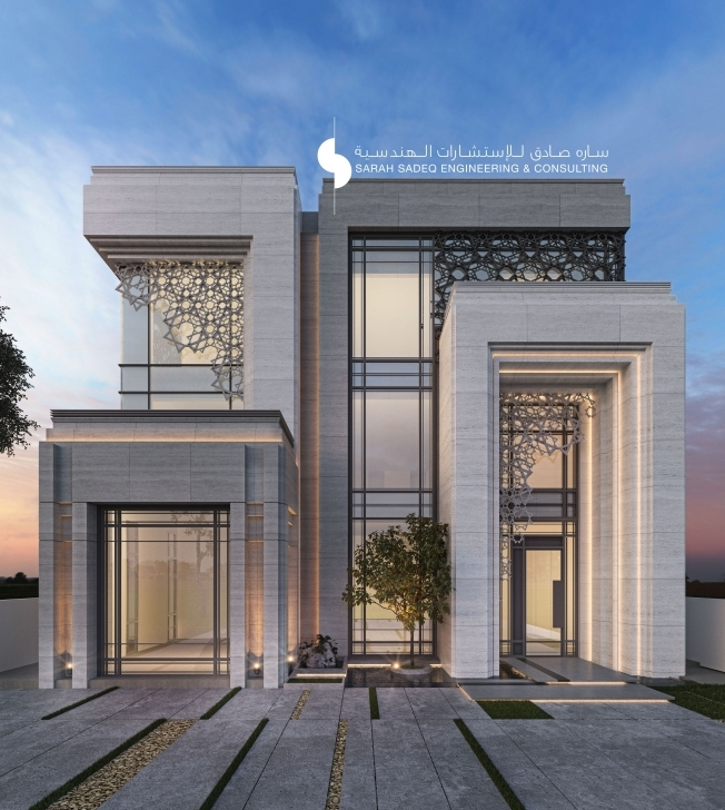 Most Inspiring 500 M Private Villa Kuwait Sarah Sadeq Architects | Sarah Sadeq Small Villa Design Picture