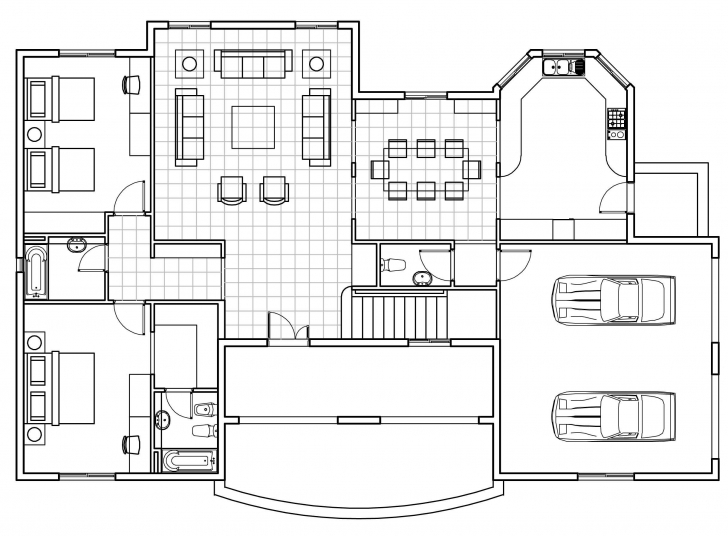 Most Inspiring Floor Plan Autocad Images - Home Furniture Designs Pictures Auto Cad 2d Plan Image