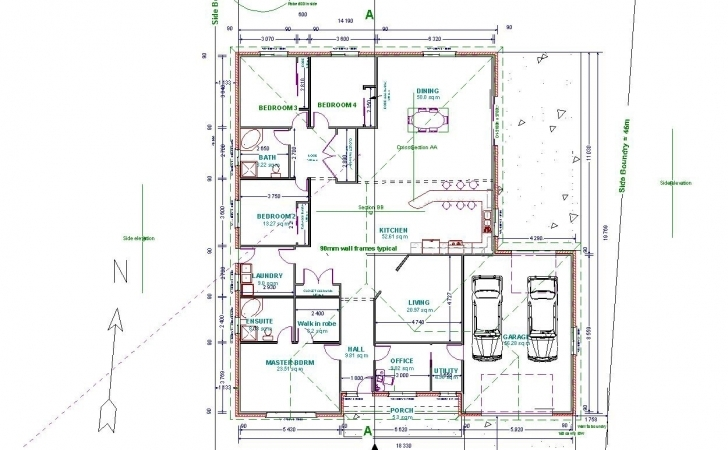 Most Inspiring Home Architecture: Autocad For Home Design New At Excellent Fresh Design House Plan Autocad Photo