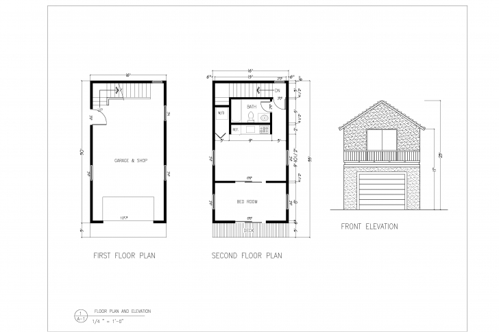 Most Inspiring Mini Coach House Floor Plan Elevation - Building Plans Online | #16610 Plan Section And Elevation Of Houses Autocad Pic