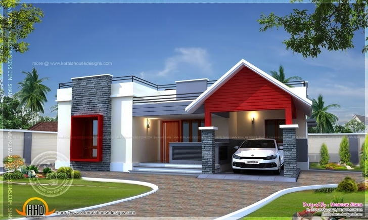 Most Inspiring Single Floor Home Plan Square Feet Kerala Design - Building Plans Single Storey Indian House Designs Pic