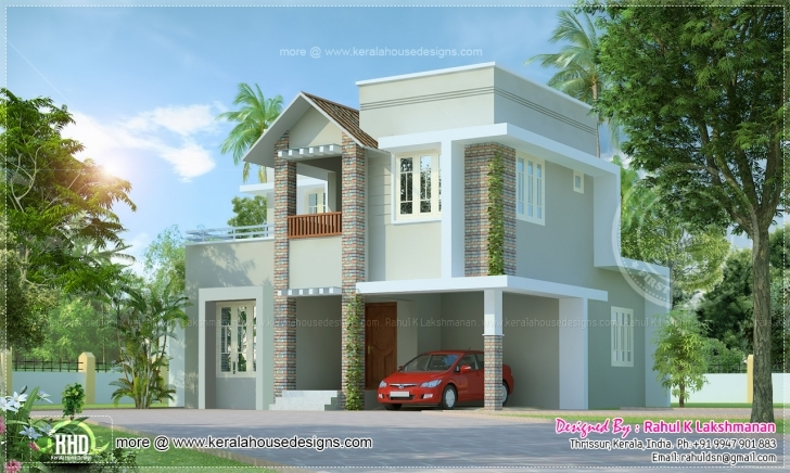 Most Inspiring Small Cute Villa Square Feet Kerala Home Design Floor - House Plans Small Villa Design Image