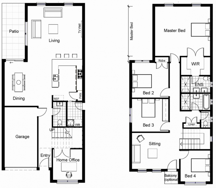 Most Inspiring Small Double Storey House Plans Pdf Beautiful House Modern Two Modern Small Double Story House Plans Image