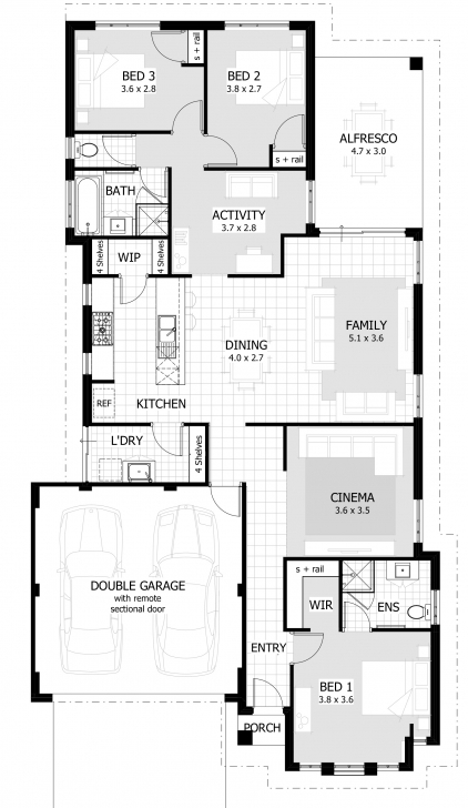 Most Inspiring Three Bedroom House Plans • Bedroom Ideas 1540 House Design Photo