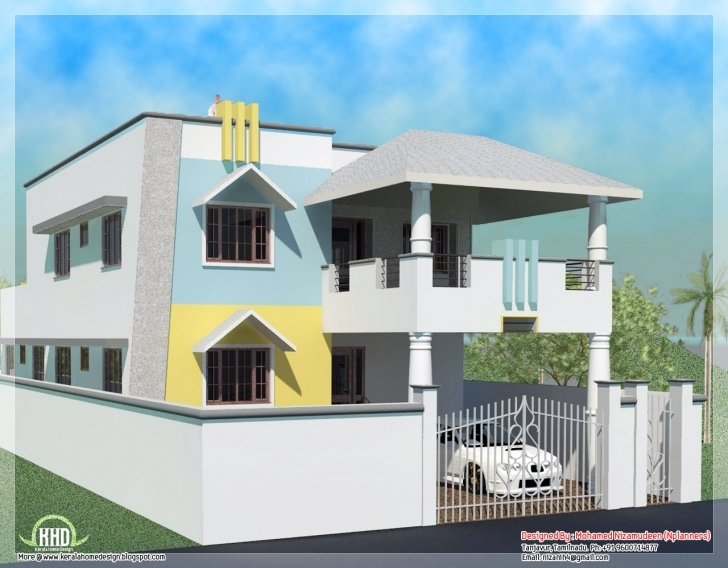 Must See 2200 Sq. Feet Minimalist Tamilnadu Style House - Kerala Home Design House Plans With Photos In India Tamil Nadu Image