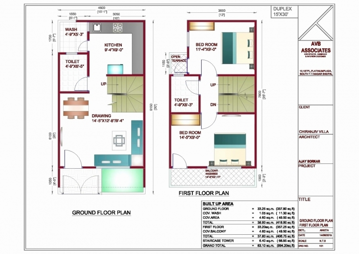Must See 30 X 60 House Plans Awesome 20×40 Feet Ground Floor Plan Plans 15 X 40 House Floor Plans Pic
