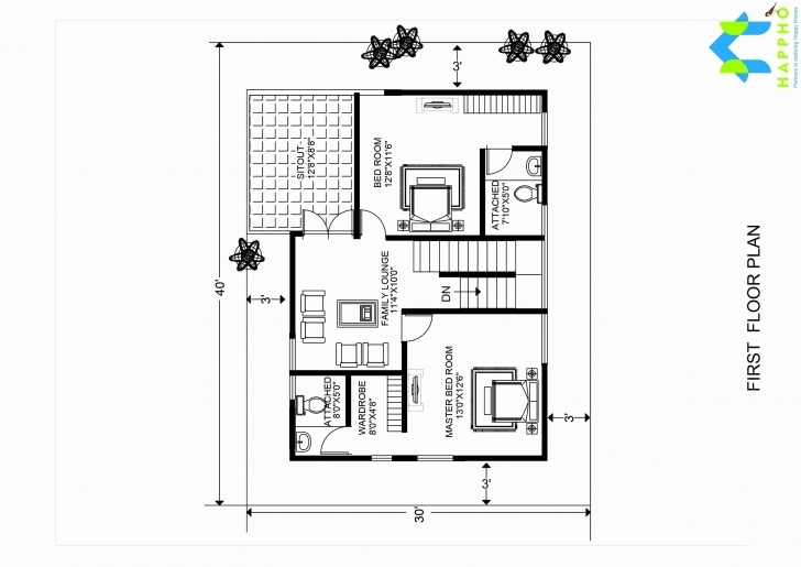 Must See 3050 House Plans South Facing Exclusive 20—30 House Plans Fresh 20 3050 House Plan Picture