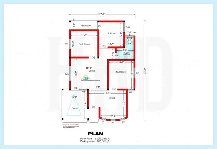 Must See Home Plan Design 800 Sq Ft Awesome South Indian Model House Plan New Homeplan For 15 Feet According Vastu Image