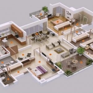 5 Bedroom House Floor Plans 3d