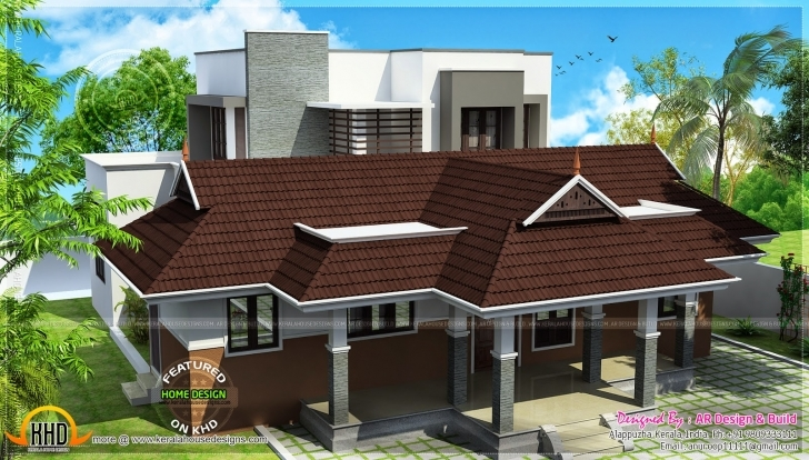 Must See News And Article Online: Modern Mix Nalukettu House Modern Nalukettu House Plans Image