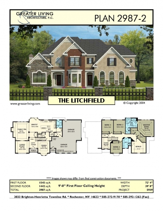 Must See Plan 2987-2: The Litchfield - House Plans - Two Story House Plans 1545 House Plan Photo