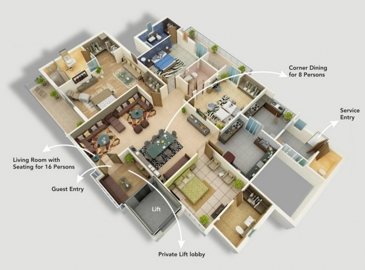 Must See Simple Two Story House Plans Bedroom One Kerala Style Four Ideas Free 4 Bedroom Modern House Plans Photo