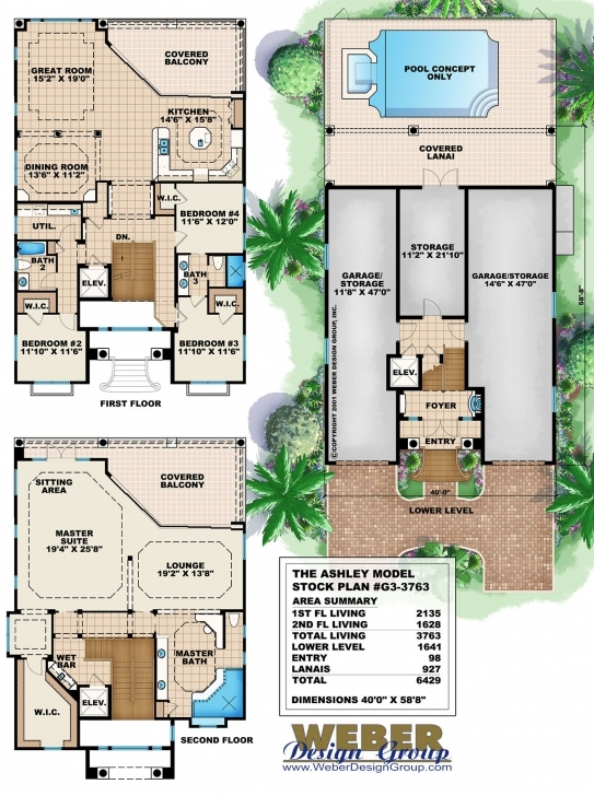 Must See Three Story House Plans With Photos - Contemporary, Luxury Mansions G 2 Residential Building Plan Pic