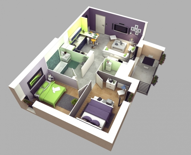 Must See Two Bedroom Simple House Plans - Homes Floor Plans Simple House Plan With 2 Bedrooms Image