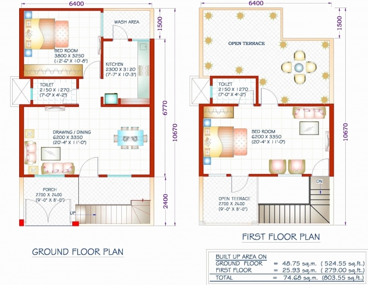 Outstanding 1000 Sq Ft House Plans 2 Bedroom Indian Style Fresh Square Foot South Indian House Plan For 1000 Sq Ft Photo