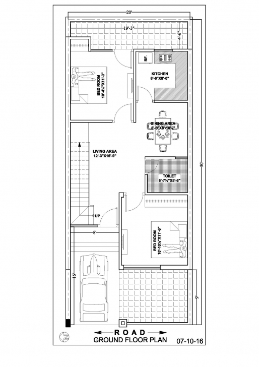 Outstanding 20×50 Duplex House Floor Plan – Ghar Banavo 20 X 50 House Plans Map Pic