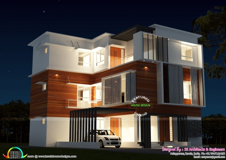 Outstanding 3 Storied House In 4 Cents Of Land - Kerala Home Design And Floor Plans 4 Cent House Images Pic