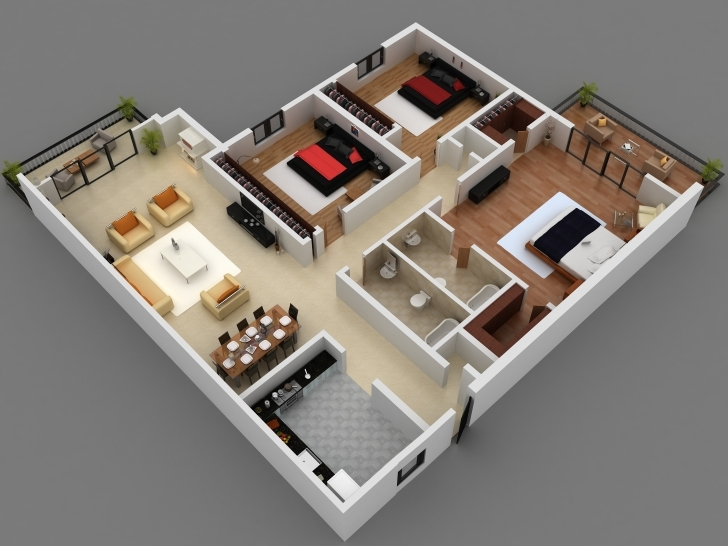 Outstanding 3D Plan Of A House 4 Bedroom 3D 4 Bedroom House Plans This Is A 3D 3d 4 Bedroom House Plans Pic